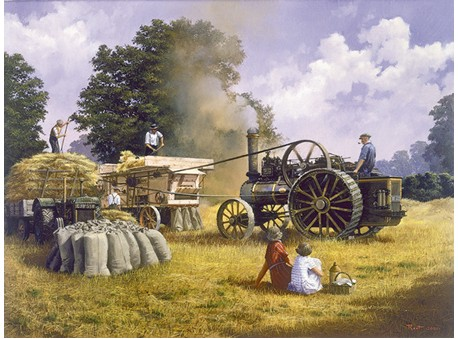 Threshing with a Fowler