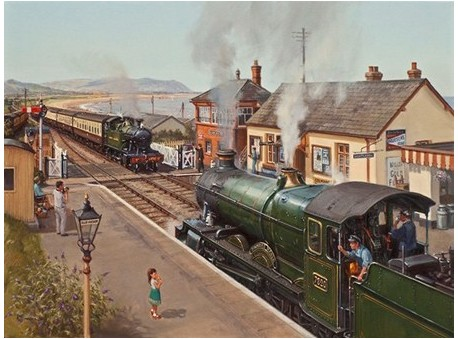 Crossing at Blue Anchor