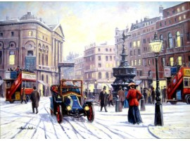 Christmas Eve at Piccadilly Circus