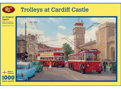Trolleys to Cardiff Castle Jigsaw