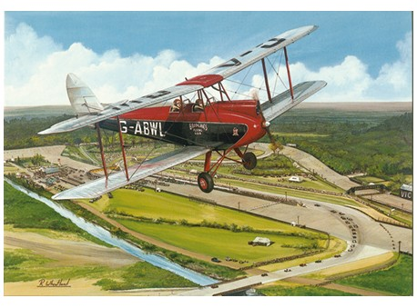 Gypsy Moth over Brooklands