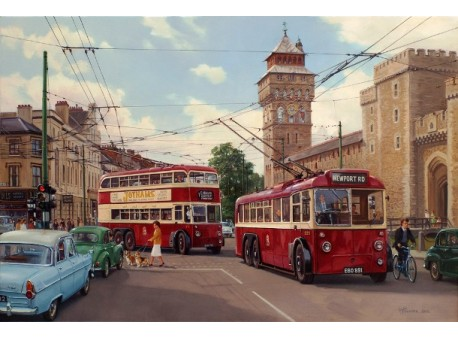 Trolleys to Cardiff Castle.