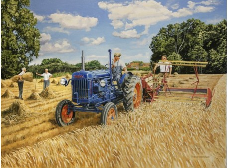 Harvesting with the Fordson Major