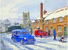 Winter Sun at Bradford Abbas Jigsaw