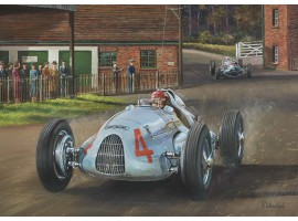 Nuvolari Racing Through the Farmyard