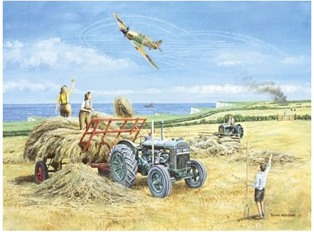 Haymaking by the Coast 1940