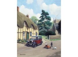 Two Cars in the Village