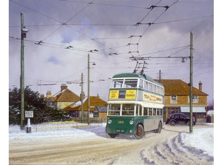Winter on the Trolley Bus