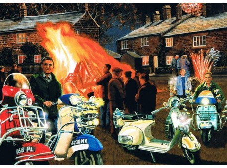 Vespa's at the Bonfire